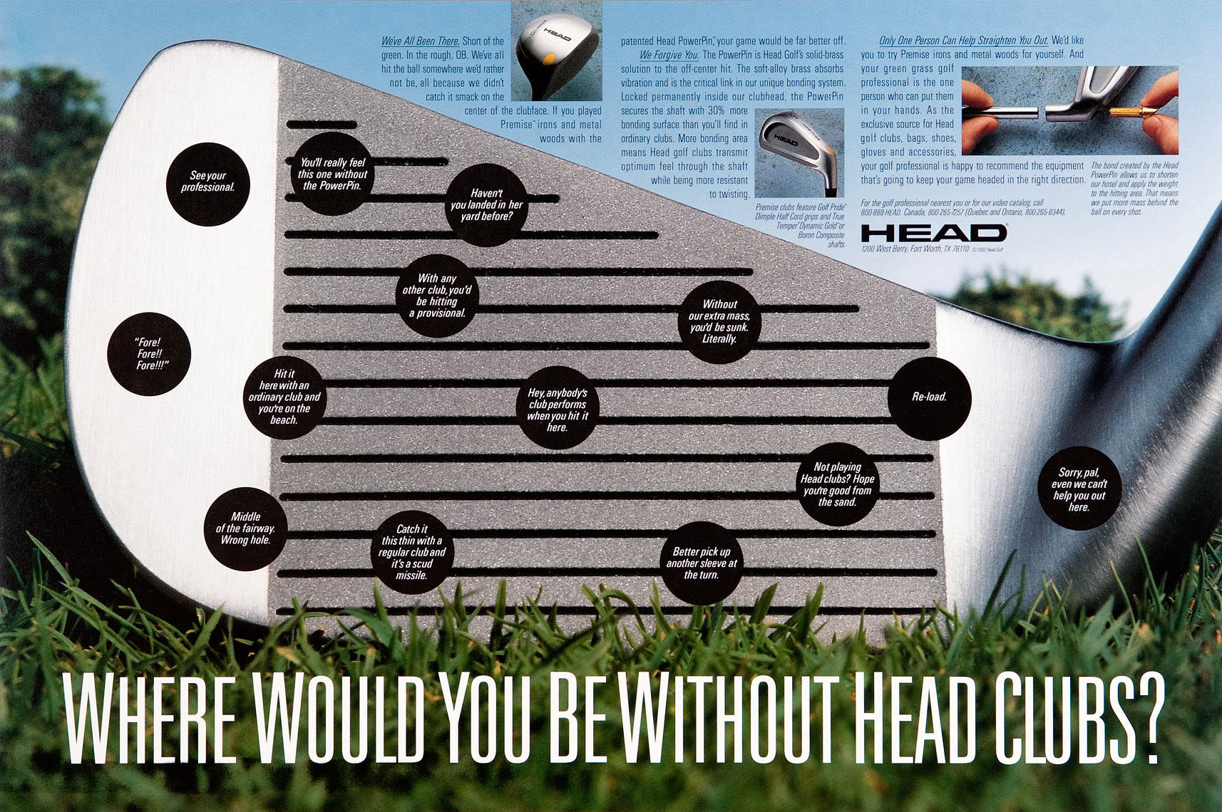 Head Golf Club Ad